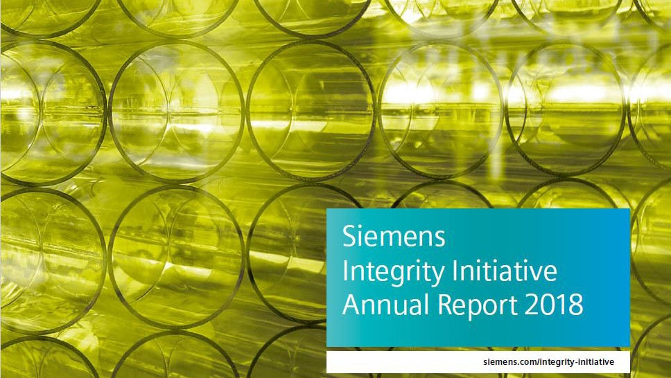 Siemens Integrity Initiative – Annual Report 2018