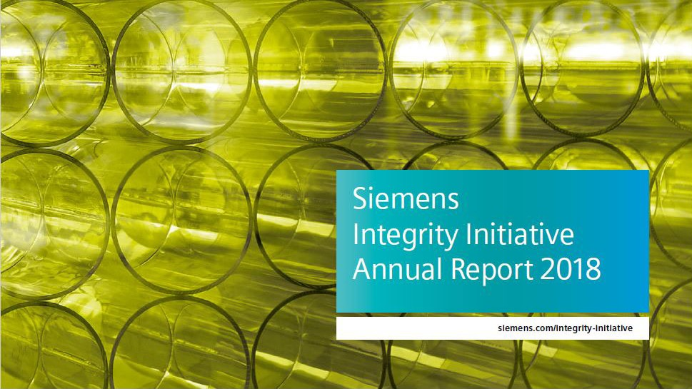 Siemens Integrity Initiative – Annual Report 2018