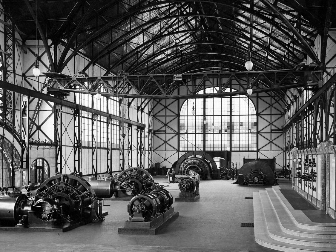 Machine hall at the Zollern II colliery near Dortmund, 1903