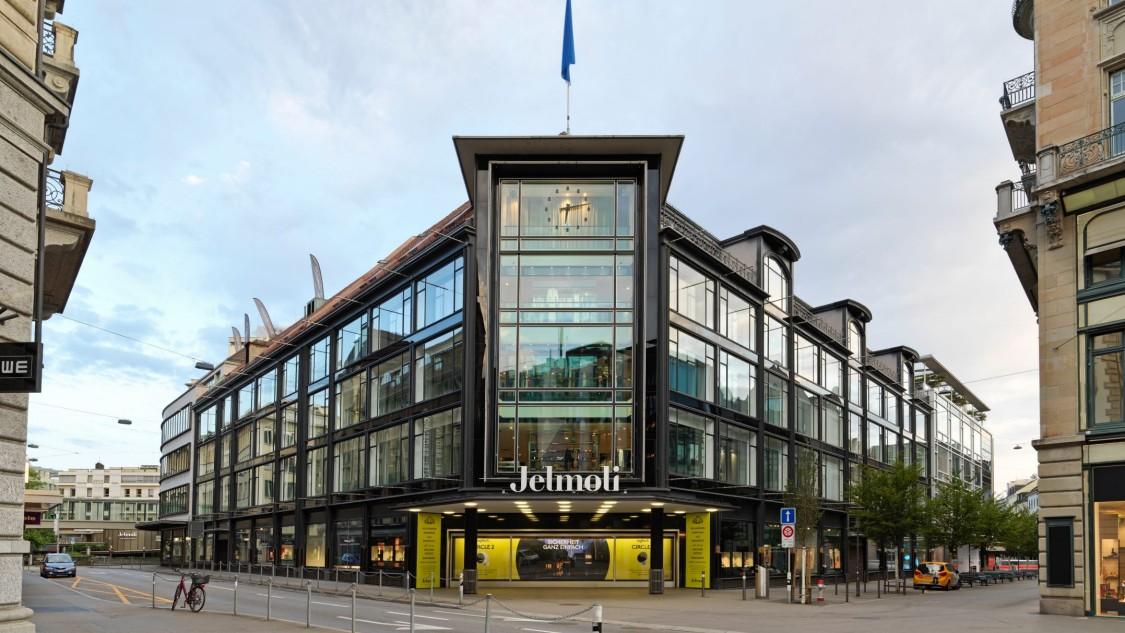 Exterior of the Jelmoli Department Store in Zurich.