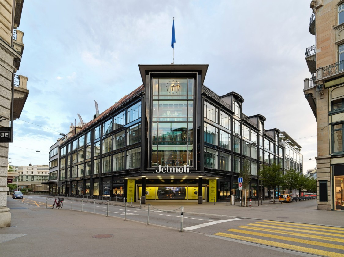 Exterior of the Jelmoli Department Store in Zurich.