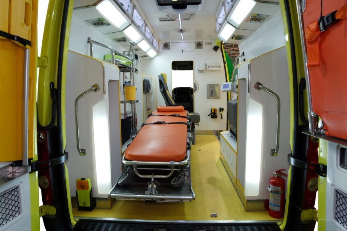 view inside ambulance