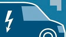 Infographic image of an electric fleet van