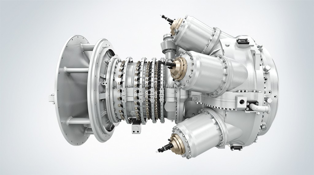 The picture shows a SGT-300 gas turbine