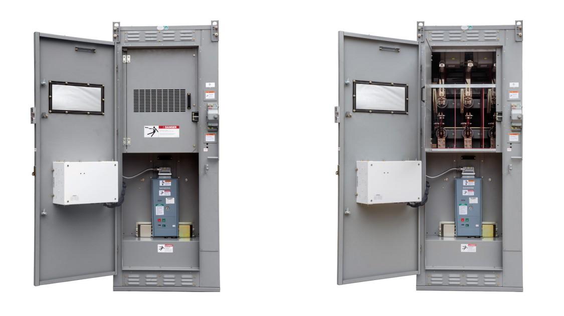 SIEBREAK-VCB metal-enclosed interrupter switchgear with the doors open
