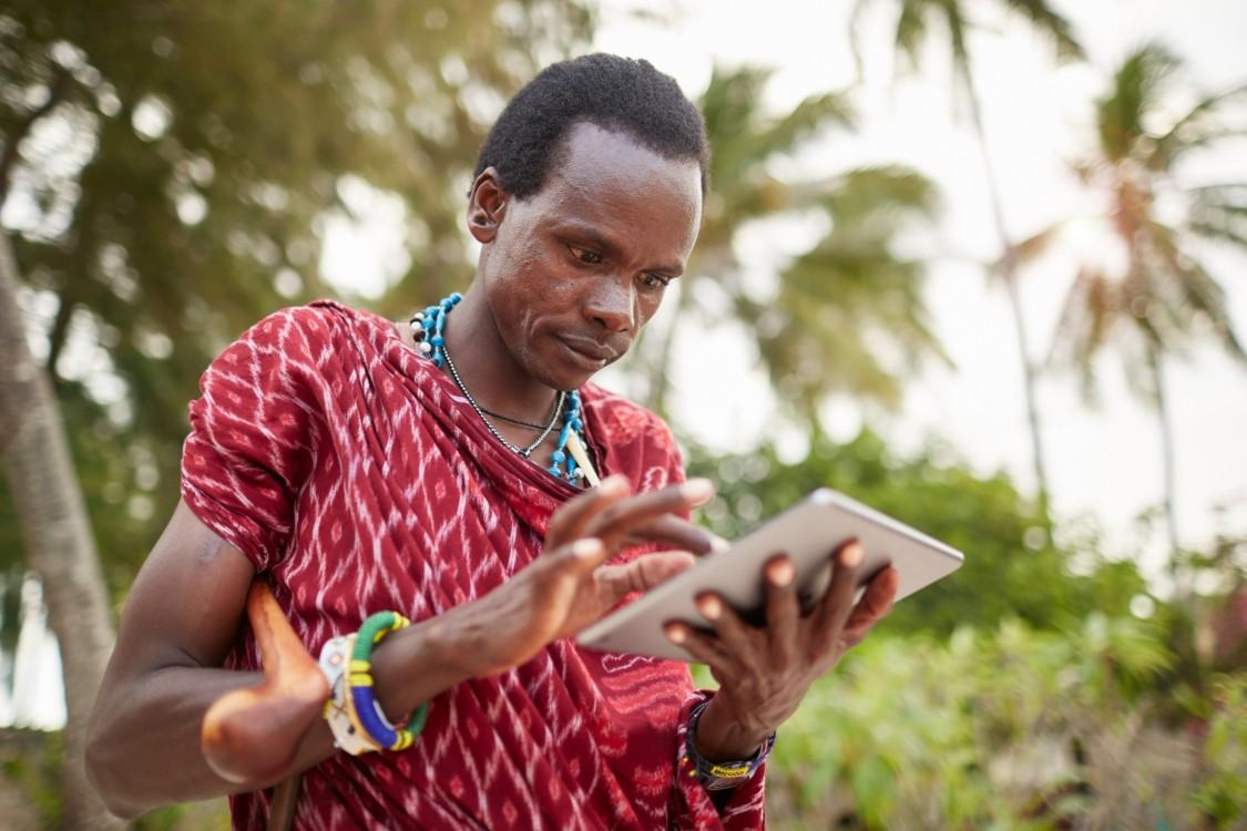 Maasai nomadic man