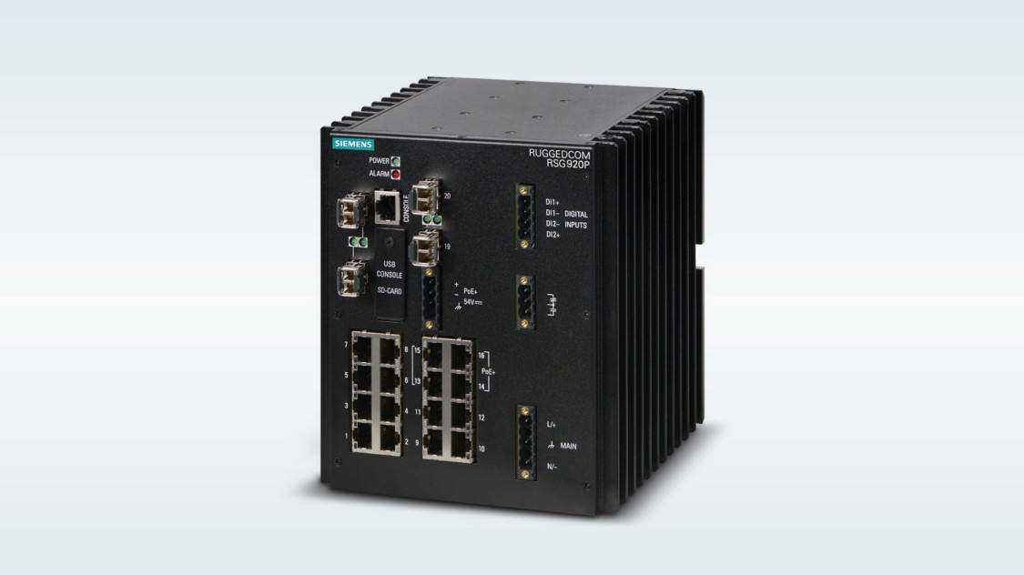 RUGGEDCOM RSG920P rugged, high-density, small form factor Layer 2 switch