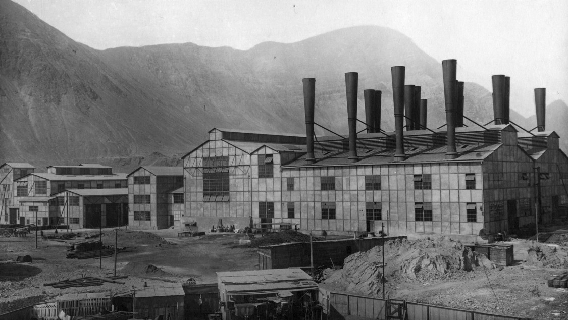 Chile, steam power plant Tocopilla, 1916