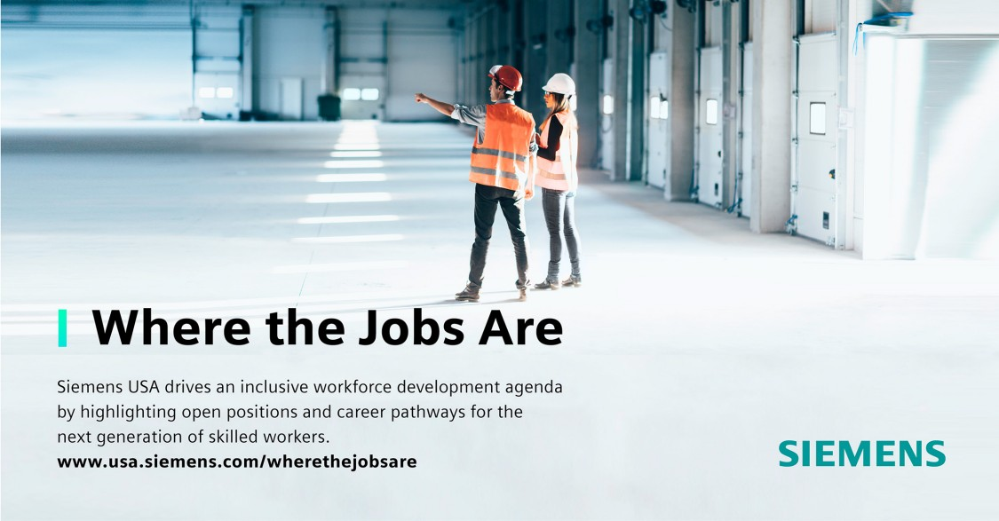 Siemens Where the Jobs Are promo image