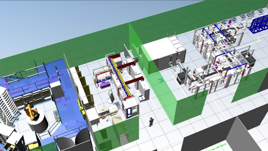 Screenshot WinCC / Plant Simulation Battery production