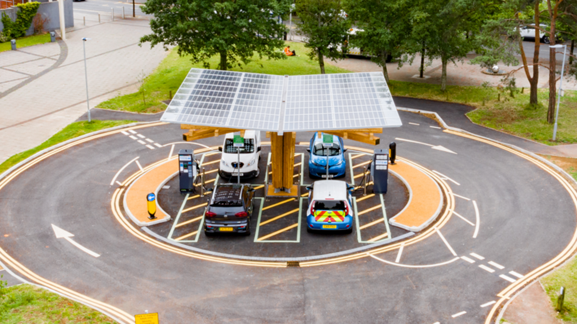 Yunex Traffic EV chargers in Portishead