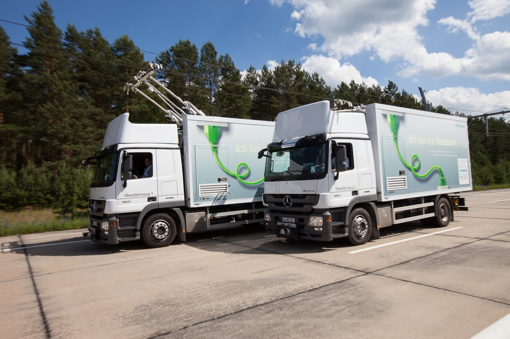Siemens testet System zur Elektrifizierung von Lkw