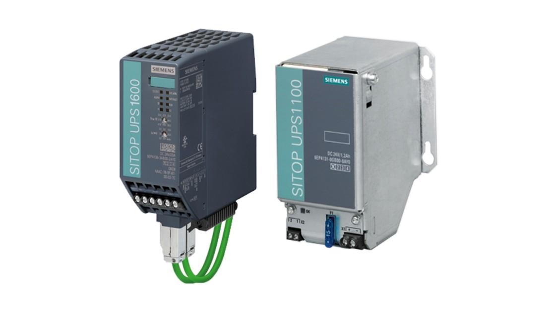 Produktgruppenbild der SITOP DC-USVs mit Batteriemodulen
