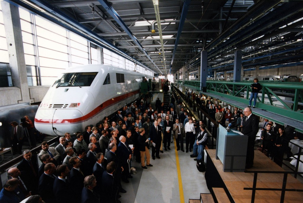 Rollout of the ICE 2, Munich-Allach