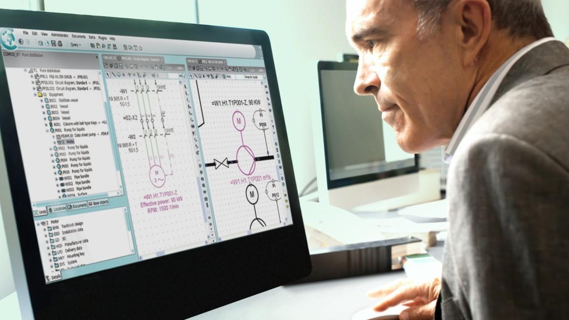 借助 COMOS EI&C 软件解决方案实现集成自动化。
