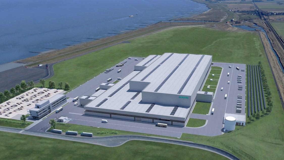 Wind turbine factory Cuxhaven