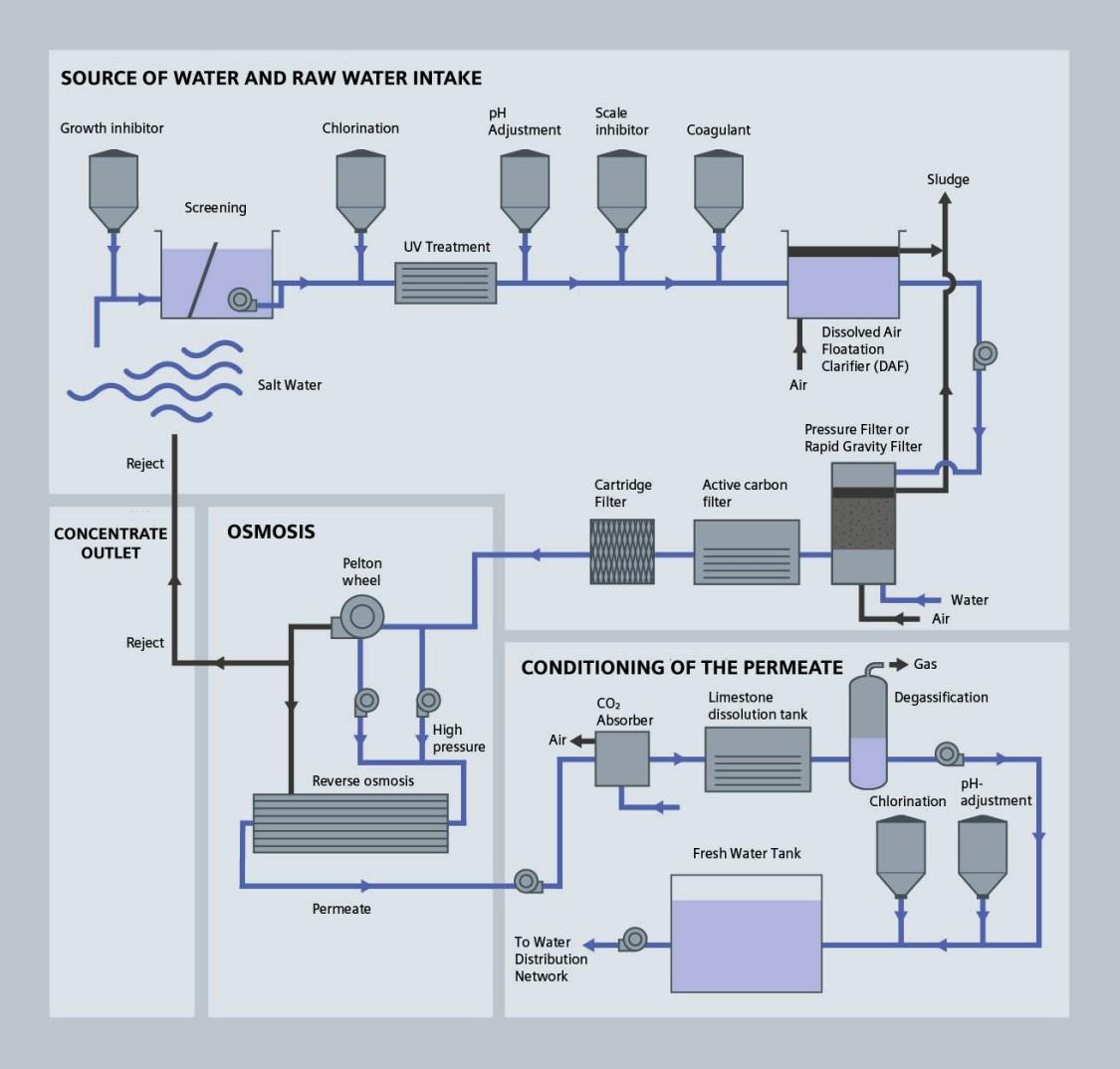 Raw intake process diagram