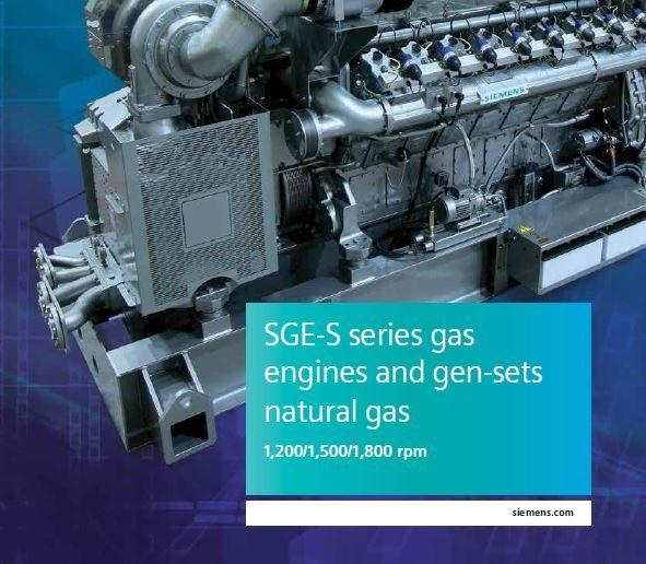 SGE-S 系列燃气发动机和发电机组宣传册