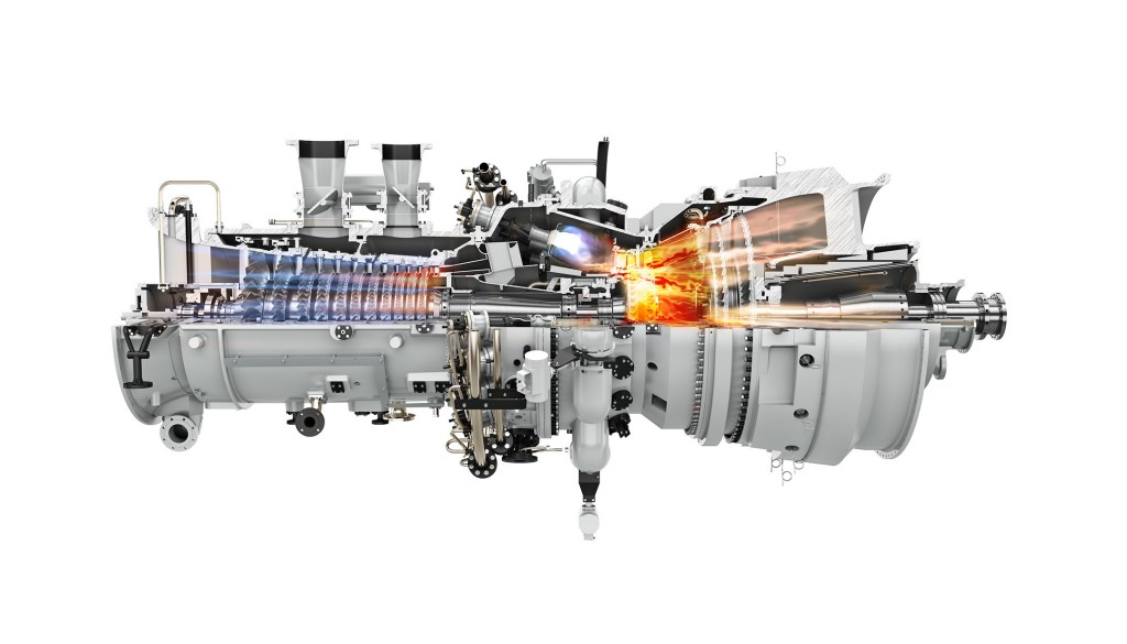 The picture shows the SGT-700 industrial gas turbine