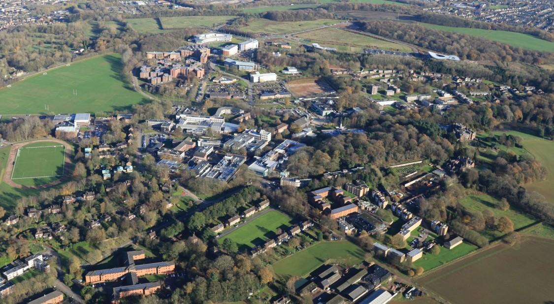 Überblick des Keele Universitätscampus