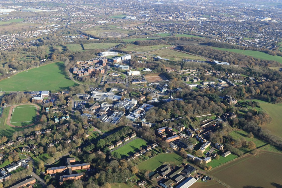 Overview of Keele University campus site