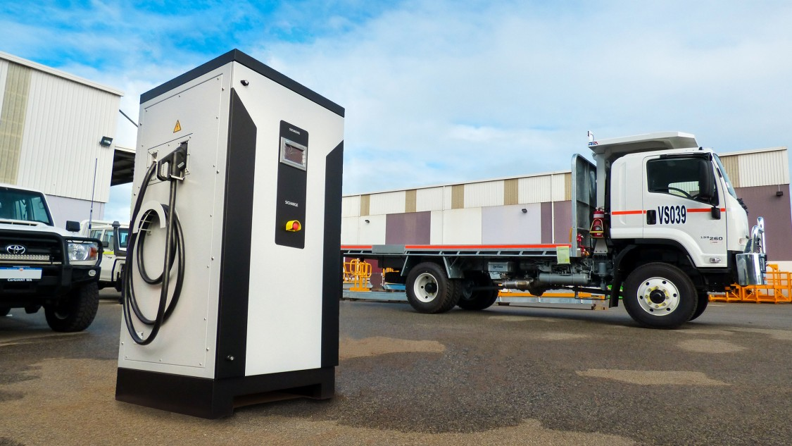 EV charging stations for mining vehicles