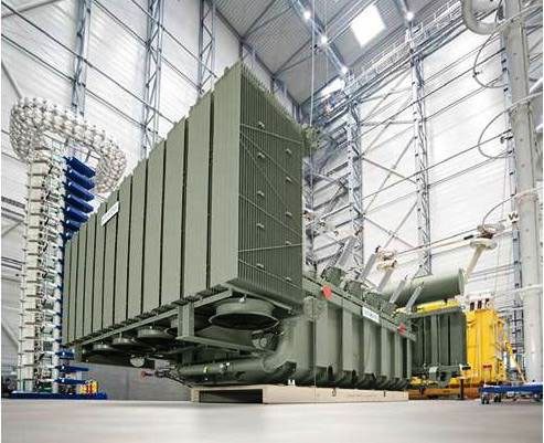 Figure 1: 420 kV Natural Ester Transformer in test bay, Nuremberg 2013