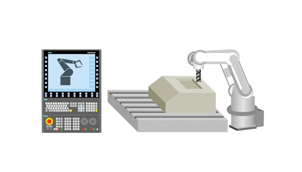 With Sinumerik Run MyRobot /Machining, the Sinumerik takes over the robot path control. This supports the precise and fast execution of machining programs.