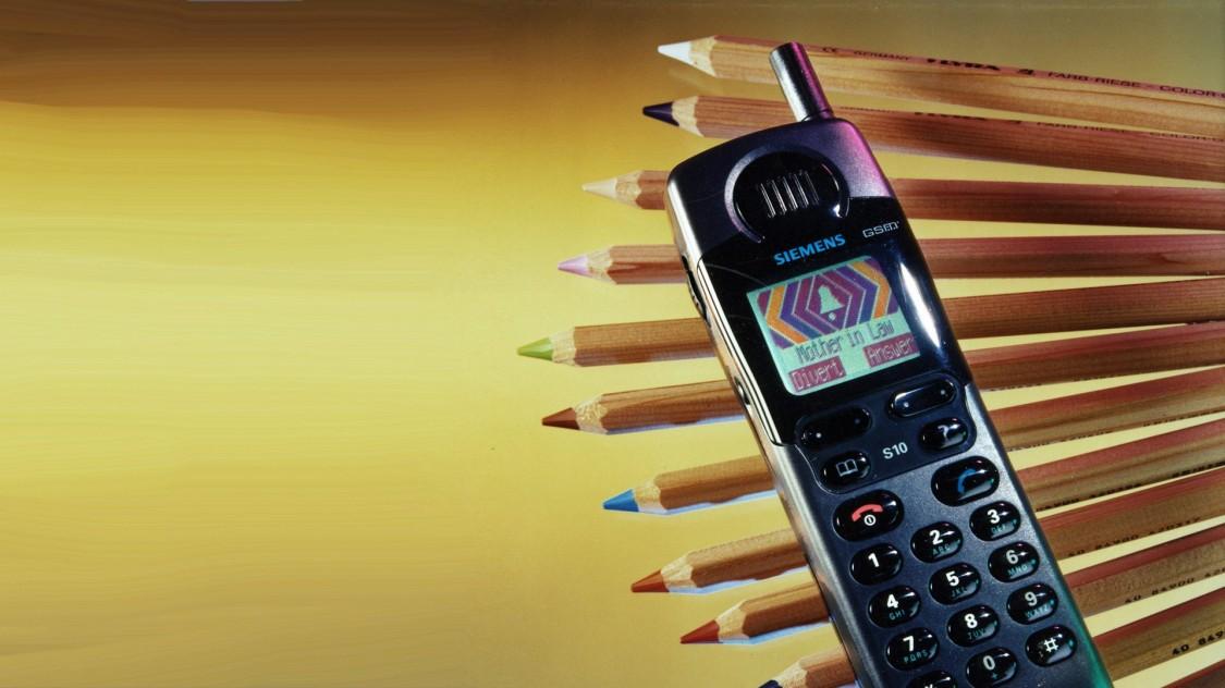 Сотовый телефон Siemens S10, 1997 год