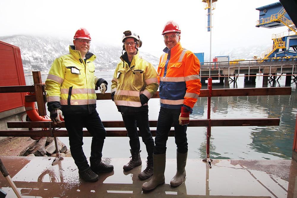 Björn Hellström, enhetschef för Automation på Eitech Engineering, Pasi Karhu, projektledare på Eitech Engineering, och Börje Melin, försäljningsingenjör på Siemens.