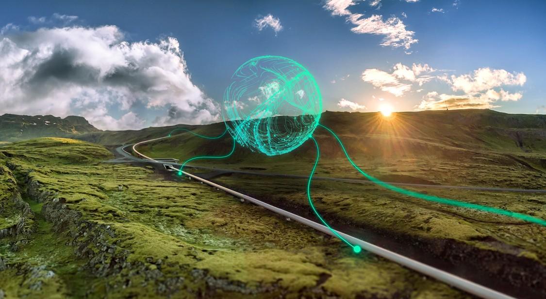 Bild einer Pipeline mit einer Telecontrol Applikation