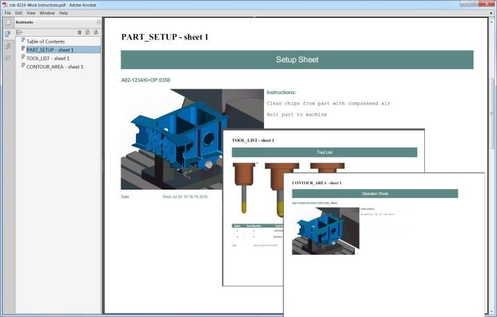 Skapa fullständiga, detaljerade arbetsinstruktioner när du programmerar i NX CAM.