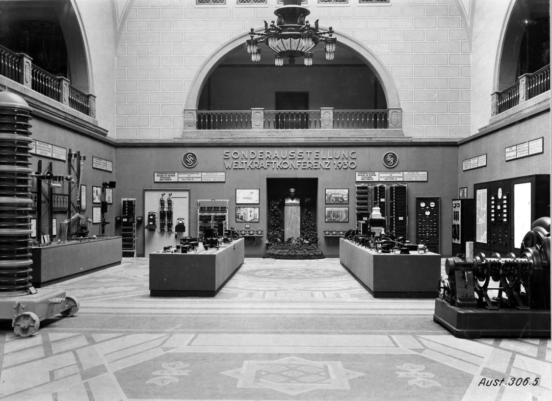 Exhibition in the main administration building, 1930