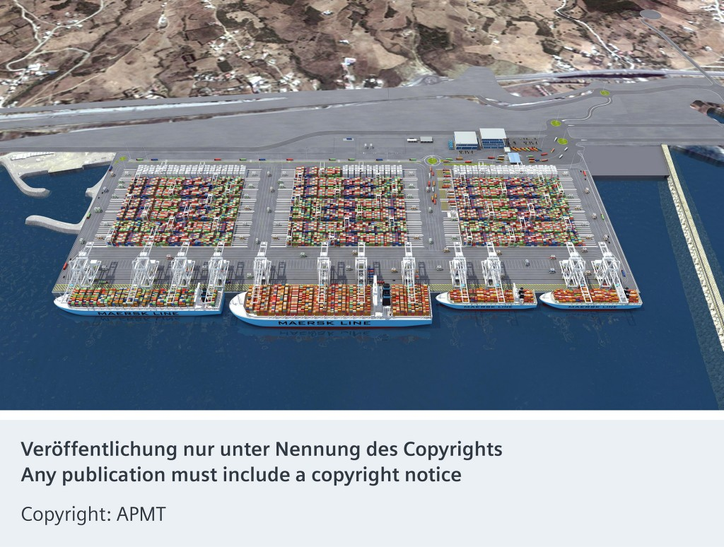 Siemens liefert elektrische Anlagen für ersten automatisierten Containerterminal in Afrika