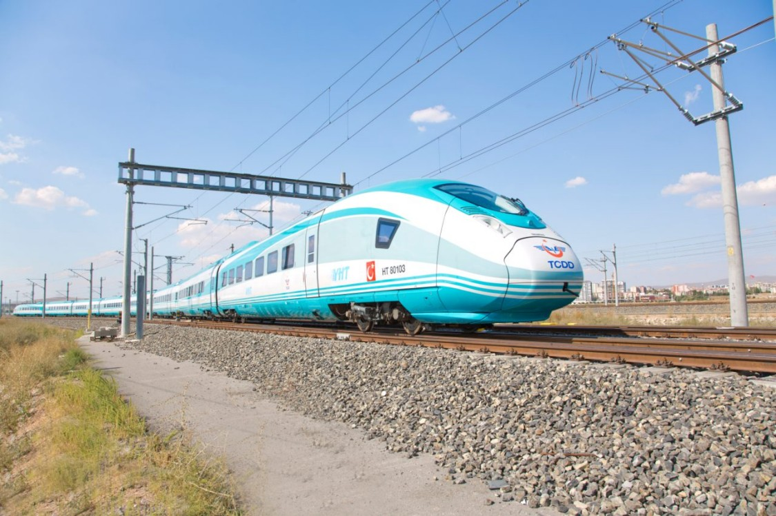 The Velaro type TCDD in operation on the Turkish rail system