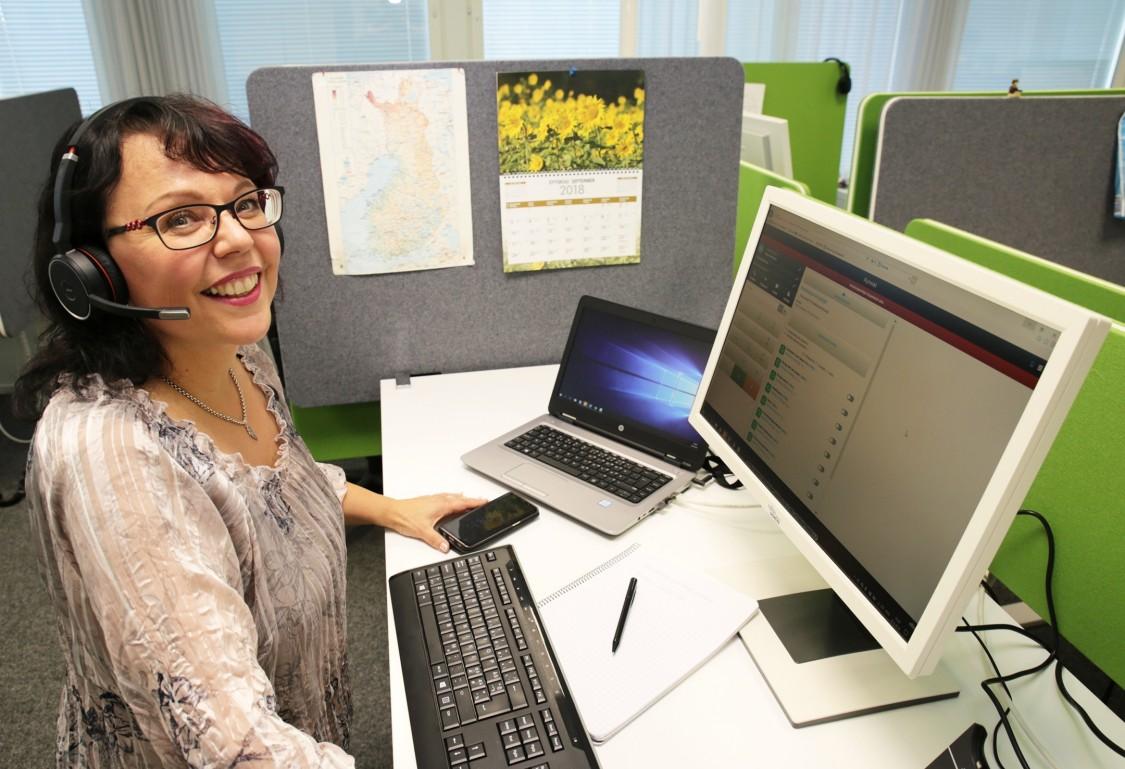 Merja Salovaara works at Siemens customer care center.