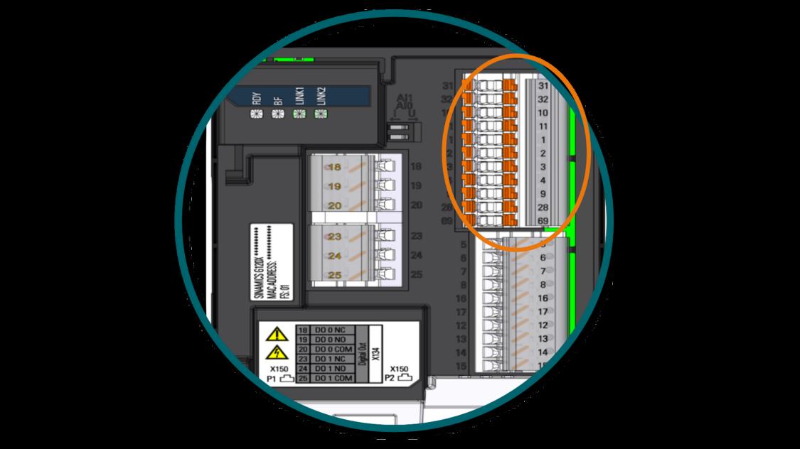 sinamics g120x - control unit wiring