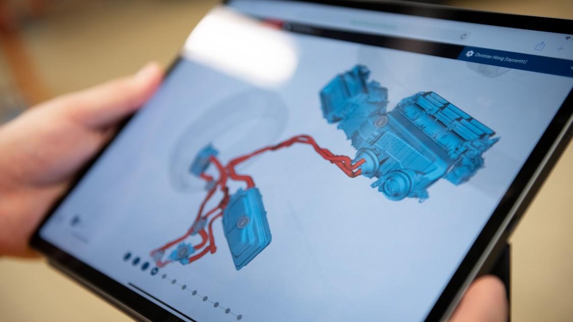 La solution PARiS affiche même des informations sur le système de gestion thermique complexe du Porsche Taycan.