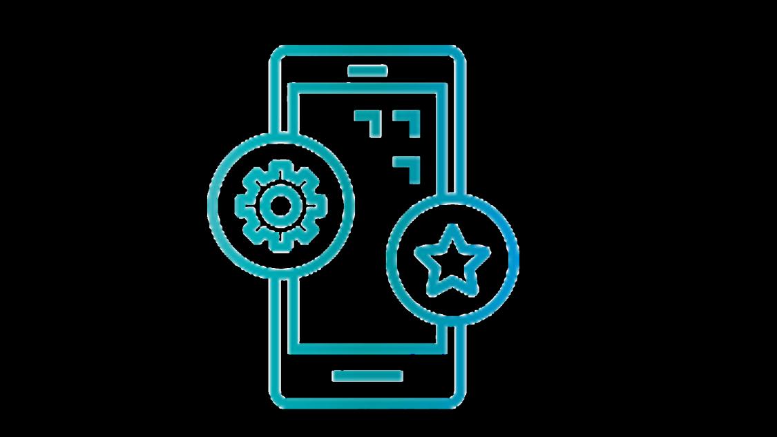 illustration of application development on mobile phone