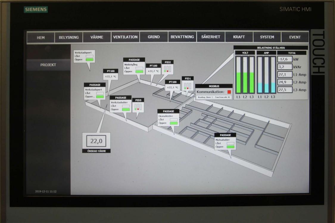 Som visualiseringssystem används Simatic WinCC.