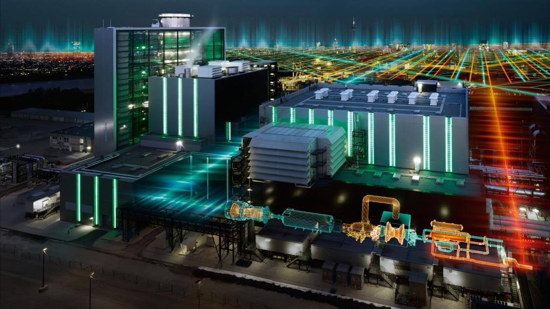 imagem de uma indústria com filtros de linhas representando os sistemas de energia