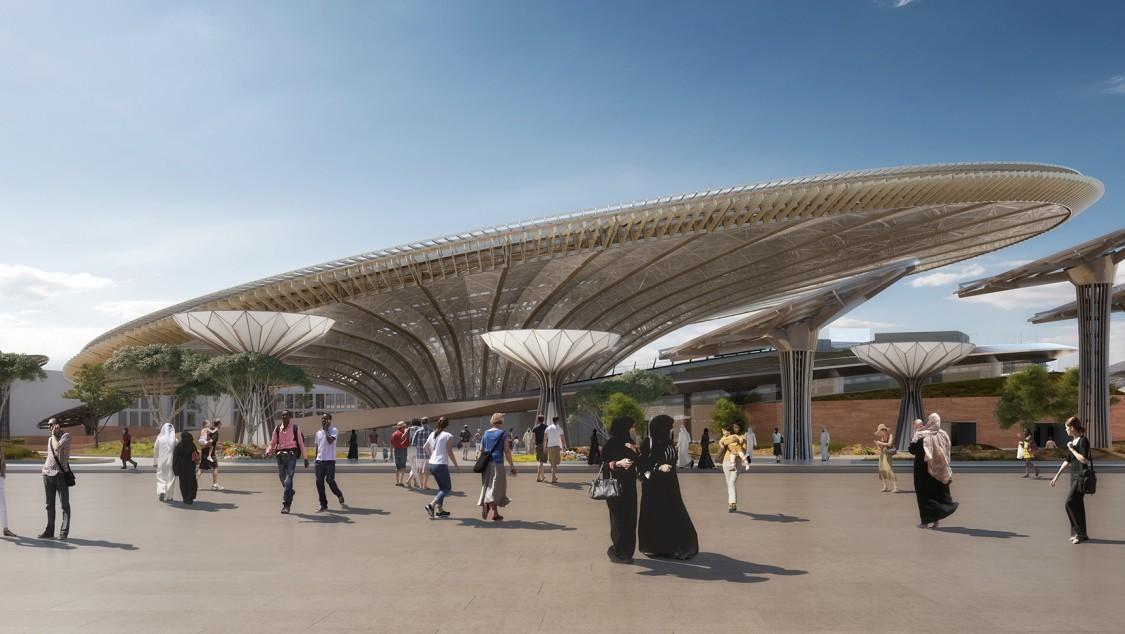 Der Nachhaltigkeits-Pavillon ist ist eines der Wahrzeichen auf dem Expo 2020-Gelände in Dubai.