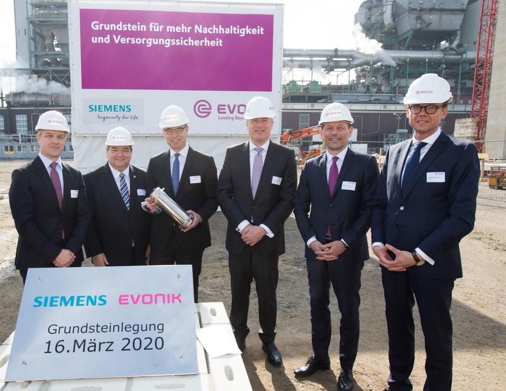 Grundsteinlegung-Gas-und-Dampfturbinenkraftwerk Marl Evonik