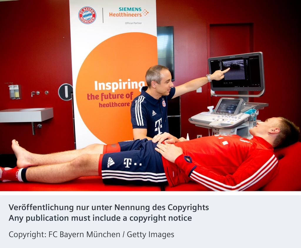 Siemens Healthineers ist offizieller Medizintechnik-Partner des FC Bayern München