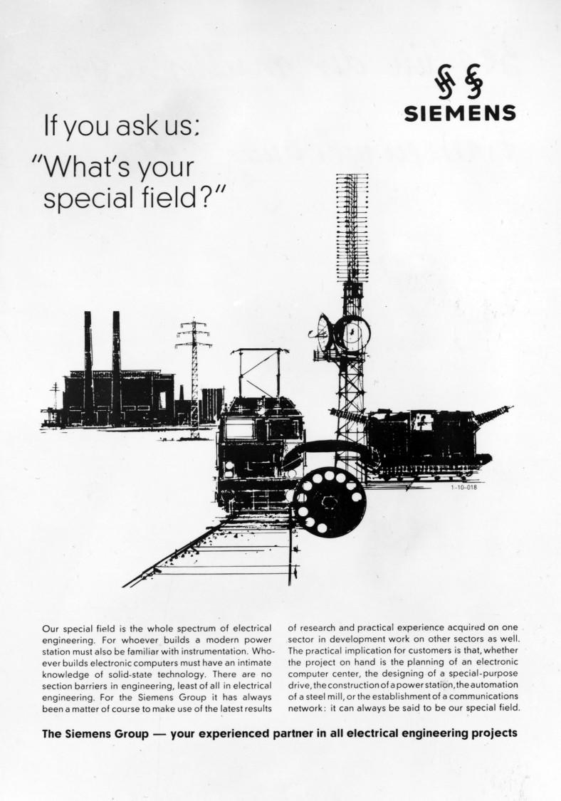 Corporate advertisement, 1963