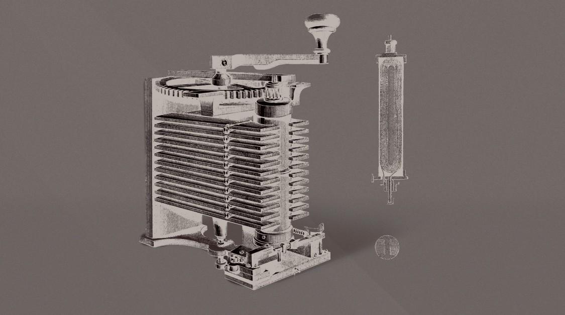 Двойной Т-образный якорь с рукояткой магнето, 1856 год