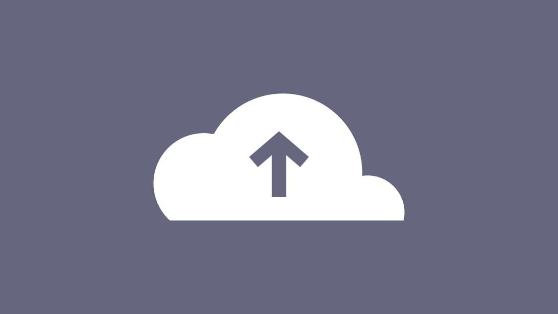 Icon zur Northbound Interface Funktion: ein senkrechter Pfeil nach oben in einer Wolke.