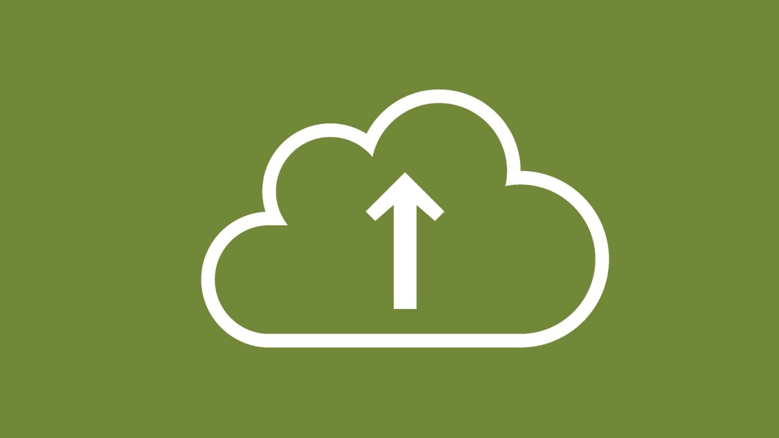 ノースバウンドインターフェース機能を示す、雲マークの中に上向きの垂直な矢印が描かれたアイコン。