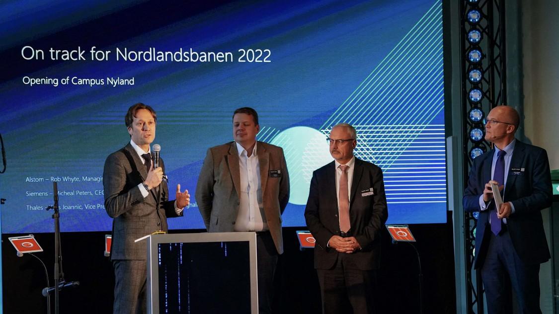 Michael Peter, CEO Siemens Mobility bei der Eröffnungsfeier von Campus Nyland