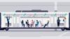Eine kurze animierte Infografik zeigt, wie durch die Klimaanlage im Zug Aerosole aus dem Zuginnenraum entfernt werden.